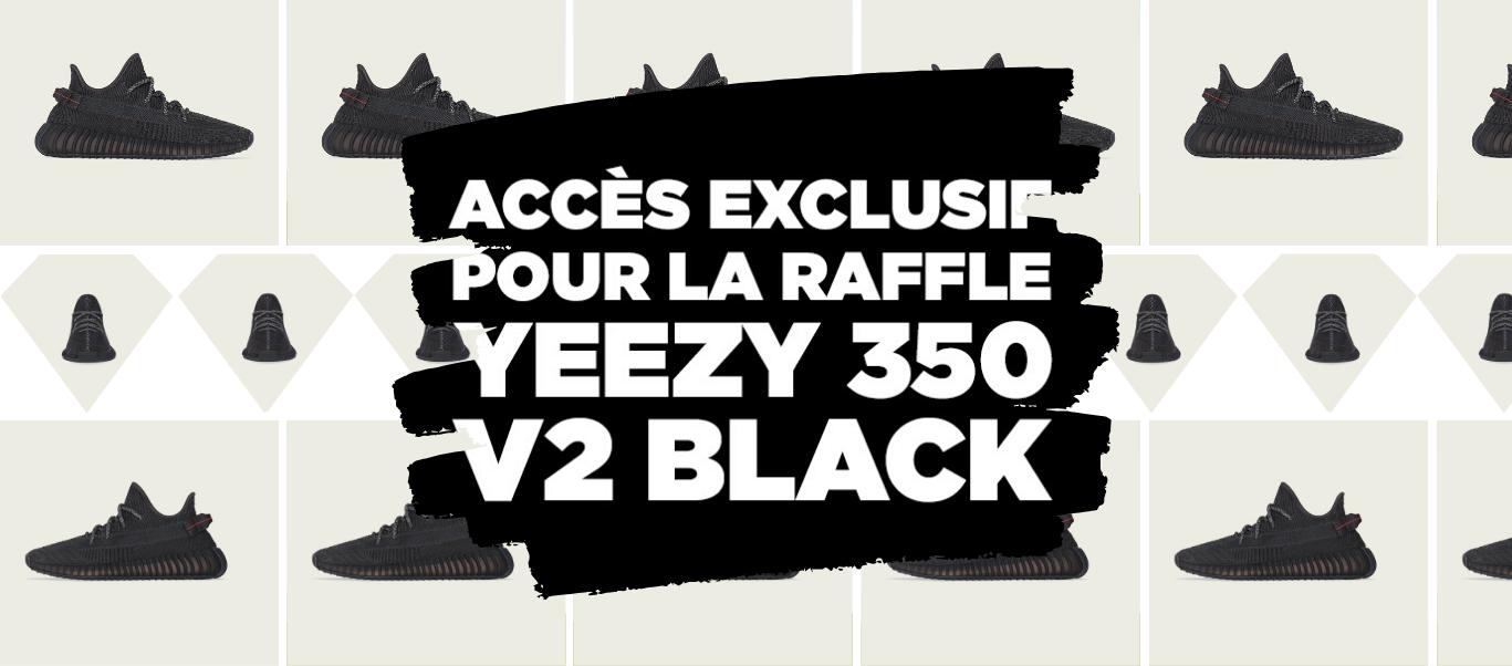 Raffle Yeezy 350 V2 BLACK
