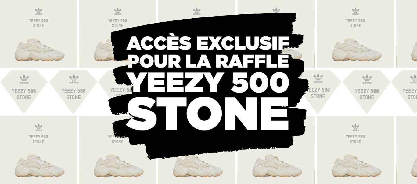 Raffle Yeezy 500 Stone
