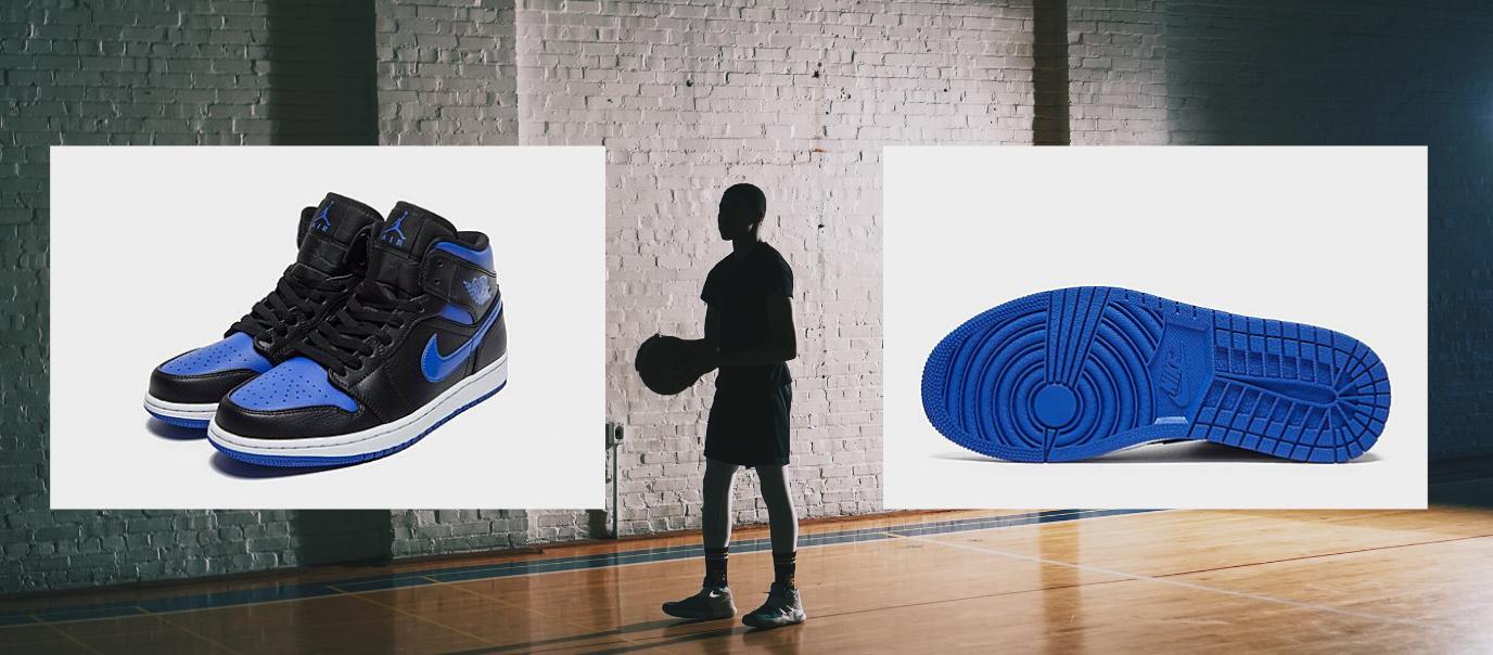 Baskets-Jordan Air Bleues