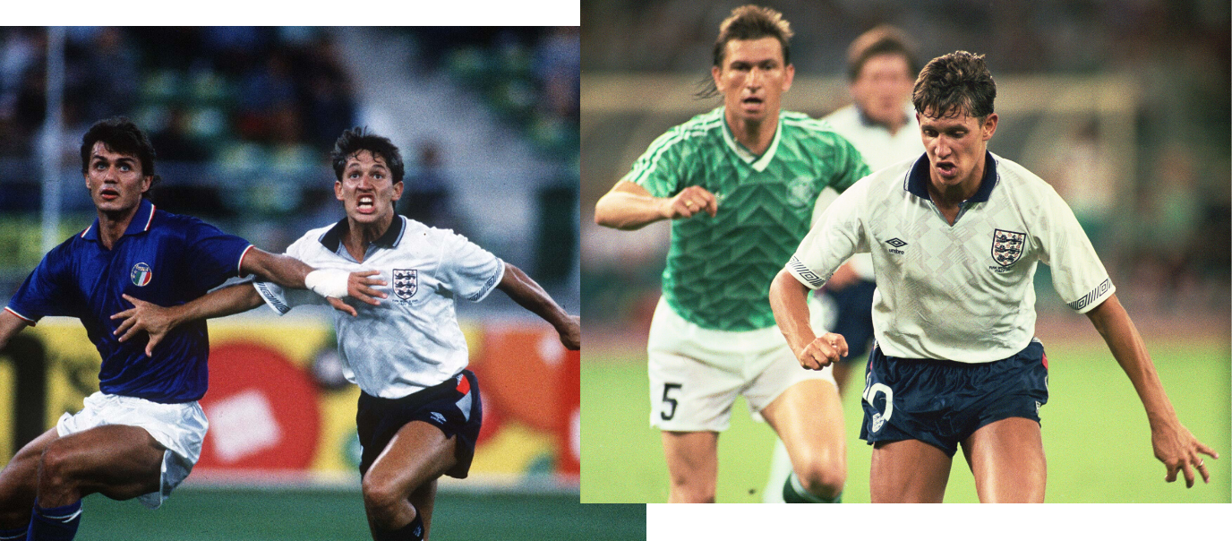 Lineker vs Germany and Italy