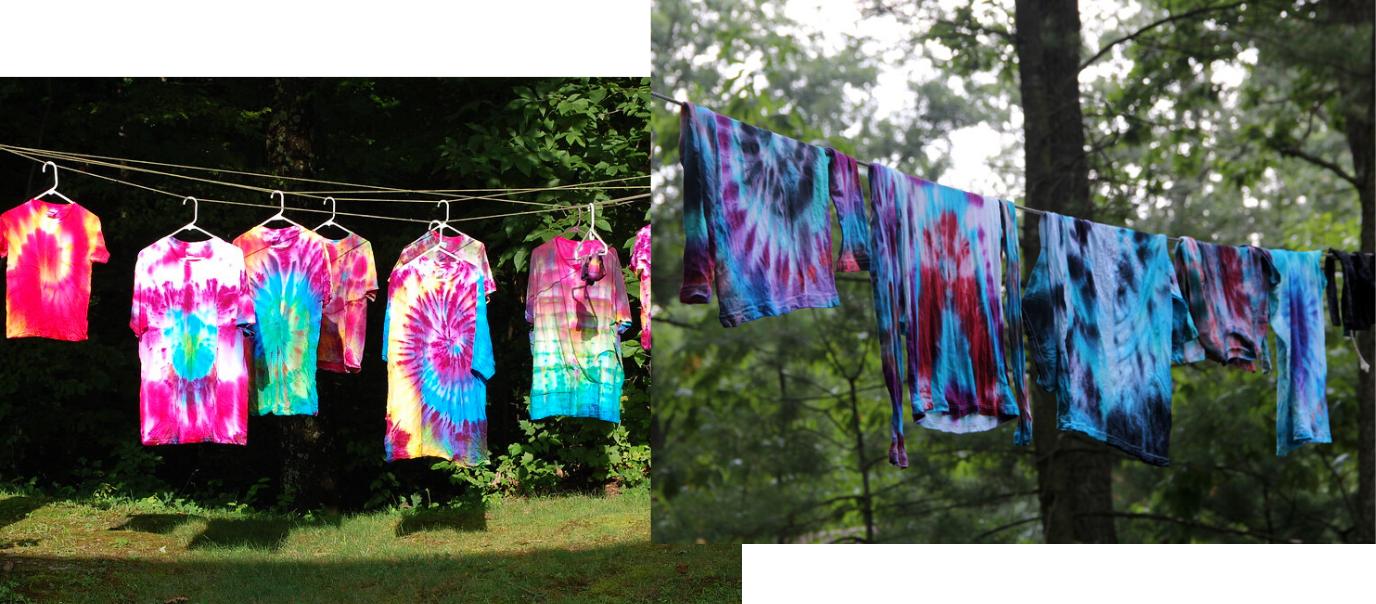 Séchage tie dye